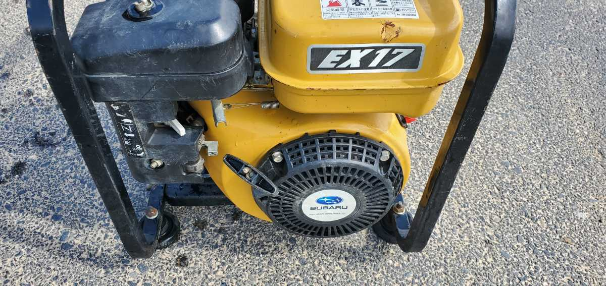 簡単に動作確認済み。スバルエンジン搭載 TSW12B エンジン高圧洗浄機 高圧ポンプ_画像5
