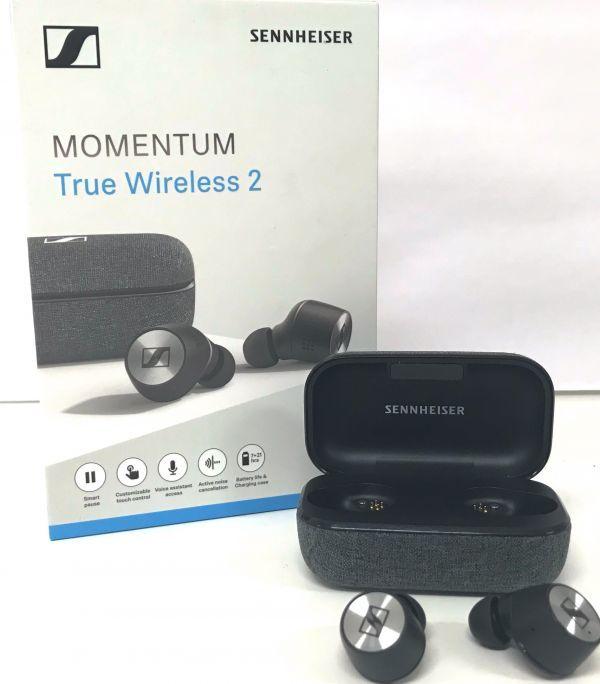θ【Bランク】SENNHEISER MOMENTUM True Wireless 2 ブラック M3IETW2 説明書/イヤーアダプター/箱 S42564040794