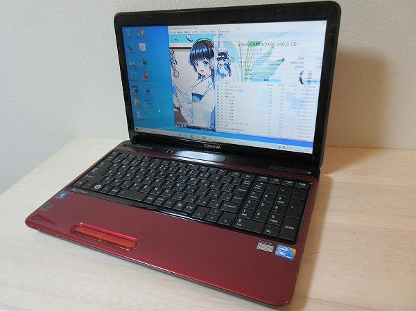 爆速新品SSD240GB/メモリ4GB☆最新Windows10☆モデナレッド☆東芝 T350/56BR☆高性能 Core i5-480M☆Office2019/ブルーレイ