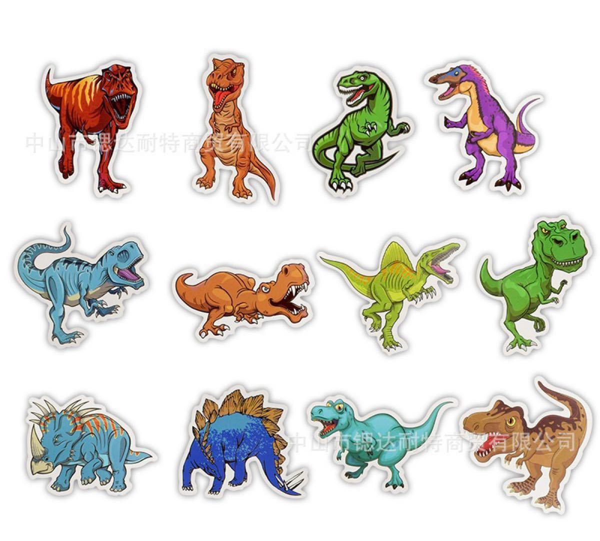 恐竜 ダイナソー ステッカー 50枚セット 男の子 おもちゃ シール 玩具
