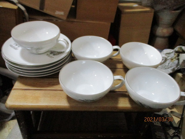 深川製磁の5客碗皿_画像1