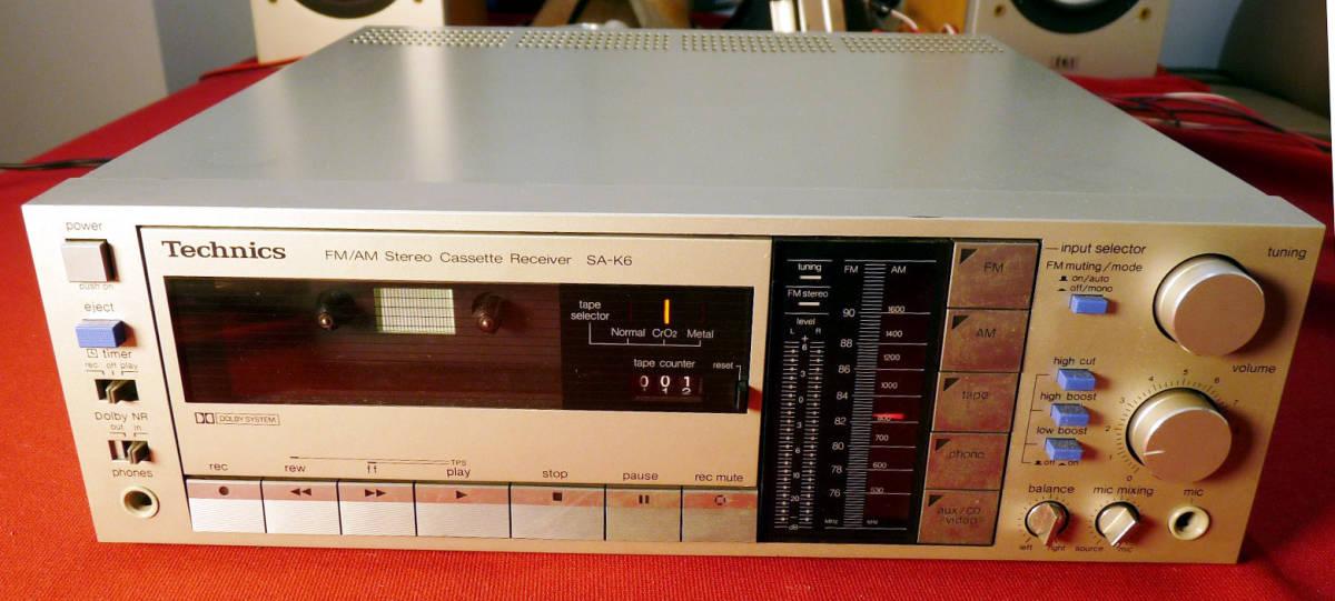 テクニクスカセットレシーバーSA-K6通電確認のみジャンク扱い_画像1