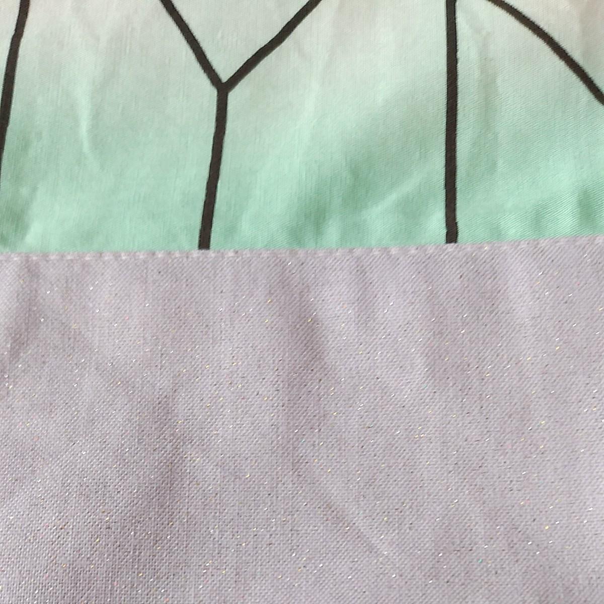 鬼滅の刃 胡蝶しのぶ 羽織風★給食袋&ランチョンマット 2点セット★入学入園・プレゼント★ハンドメイド