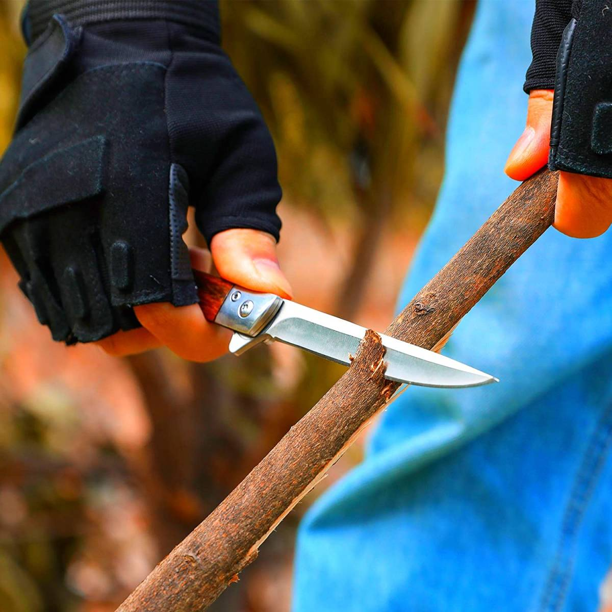 【新品 送料無料】キャンプ ナイフ アウトドア フォールディングナイフ 折りたたみ