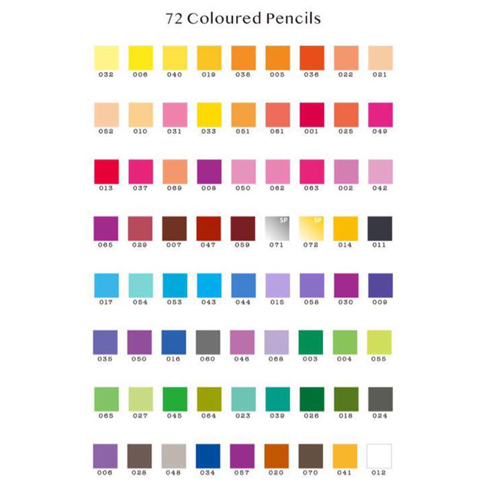 色鉛筆 72色 大人の塗り絵やお子様にも 油性 色えんぴつ _画像4