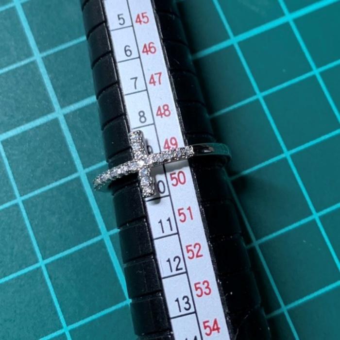 【送料無料】リング ジルコニア 指輪 十字架 クロス S925 刻印 シルバー キュービックジルコニア スターリングシルバー レディース R144_画像9
