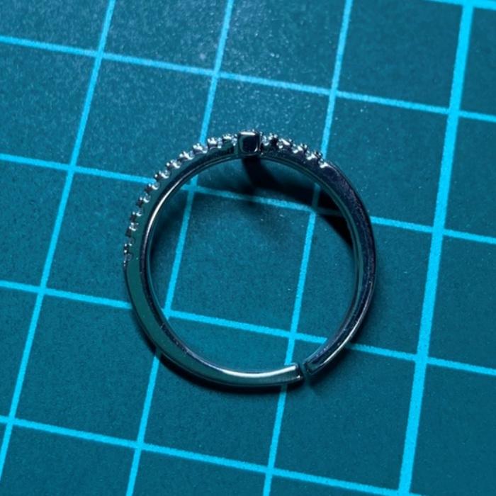 【送料無料】リング ジルコニア 指輪 十字架 クロス S925 刻印 シルバー キュービックジルコニア スターリングシルバー レディース R144_画像7
