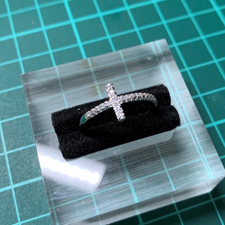 【送料無料】リング ジルコニア 指輪 十字架 クロス S925 刻印 シルバー キュービックジルコニア スターリングシルバー レディース R144_画像8