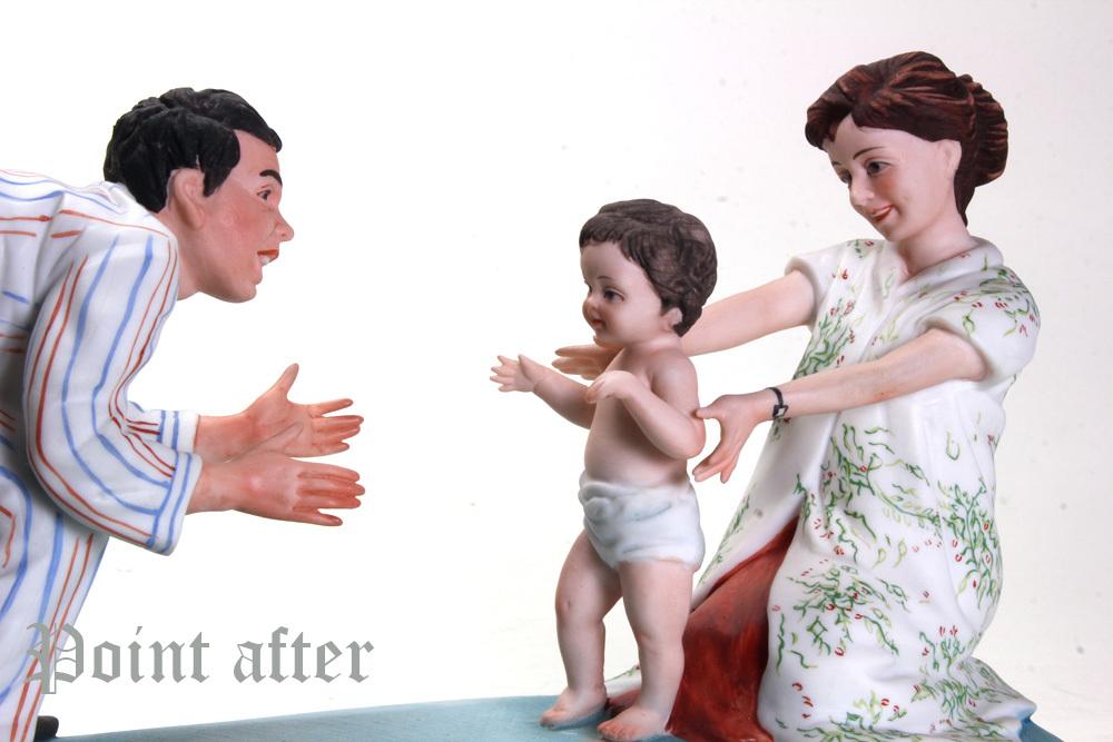 ノーマン ロックウェル 陶器人形 Baby's Fist Step はじめの一歩 1979年 日本製 限定品,美品,元箱, 出産祝い アメリカンファミリーシリーズ_画像5