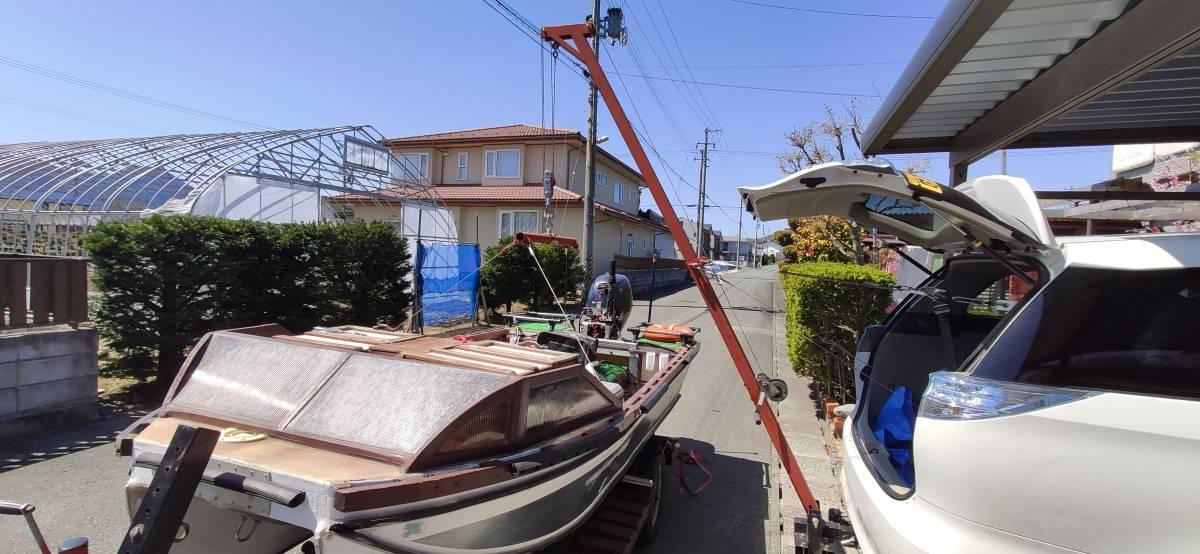 ボート吊り上げ用 ヒッチクレーン 一式 (ウィンチ無し)_画像5