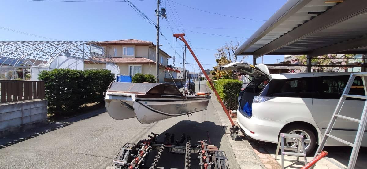ボート吊り上げ用 ヒッチクレーン 一式 (ウィンチ無し)_画像10