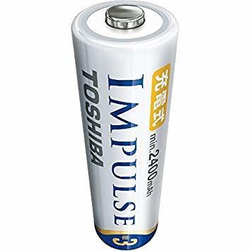 ★残り1点★TOSHIBA ニッケル水素電池 充電式IMPULSE 高容量タイプ 単3形充電池(min.2,400mAh) 4_画像2