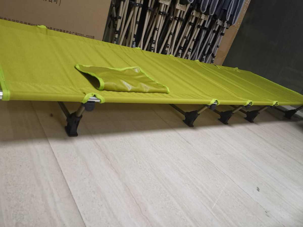 ラスト5点 セット売り 新品 軽量 折り畳み式 アウトドアコット ベッド ローコット 緑 黒  組み立て式 ダブル ペア 最終値下げ