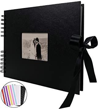 黒 スクラップブッキング DIY黒台紙40枚 手作り 手作りフォトフレームブック アルバム お友達へのプレゼントや結_画像1