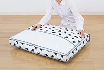 くまモン柄 アストロ くまモン 羽毛布団 収納袋 シングル用 不織布 コンパクト 優しく圧縮 900-05_画像4