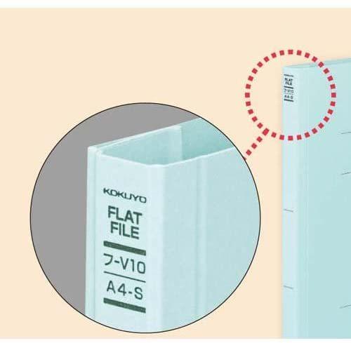 【未使用品】コクヨ フ-V43B フラット328129011V樹脂製とじ具A3縦 15mmとじ 青 10セット_画像3