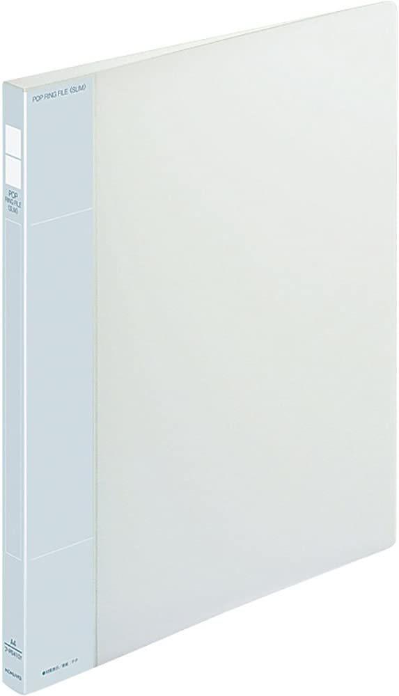 【未使用品】コクヨ ポップリングファイルスリム透明A4縦背幅21mm フ-PS410T×2冊セット_画像1