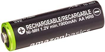 ベーシック 充電池 充電式ニッケル水素電池 単3形8個セット (最小容量1900mAh、約1000回使用可能) &a_画像5