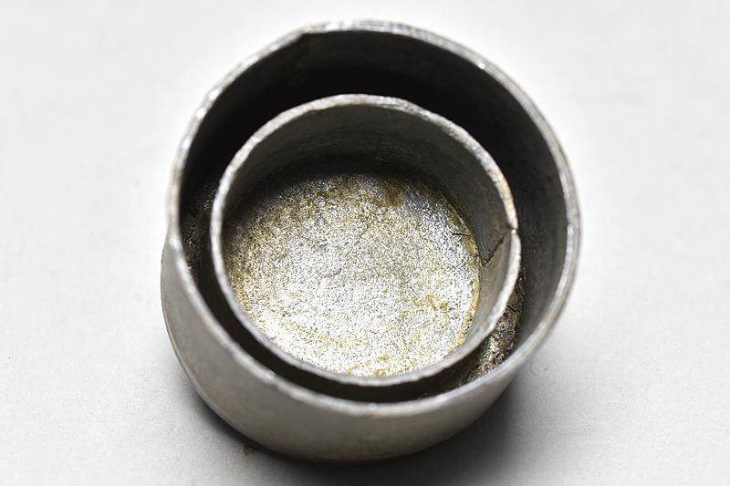 【 古錫製 四足 茶壼 】 煎茶道具 錫器_画像6