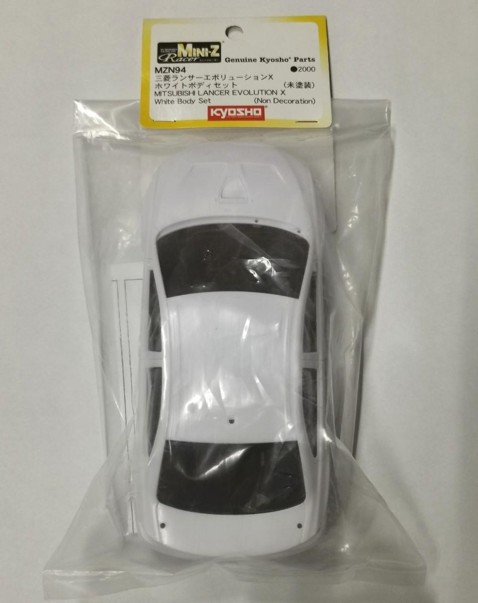 Mini-z ミニッツ 三菱ランサーエボリューションX ホワイトボディセット