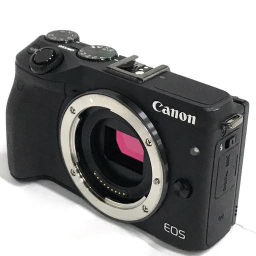 1円 Canon EOS M3 ミラーレス一眼カメラ ボディ EF-M 22mm F2 STM 18-55mm F3.5-5.6 ダブルレンズ EVF 動作品
