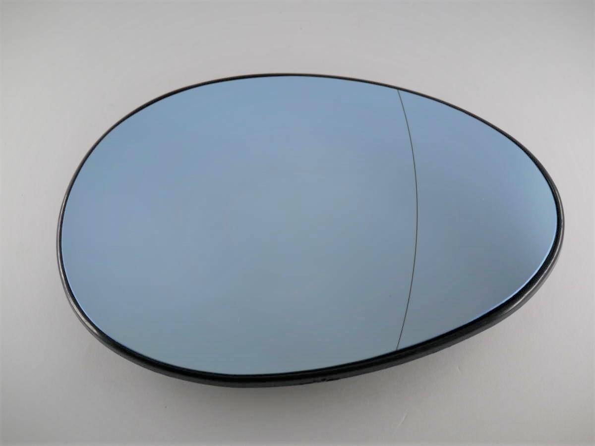 (送料込) BMW MINI ミニ R55 R56 R57 R58 R59 R60 R61 右側ドアミラーガラス ヒーテッド【ブルー・新品】