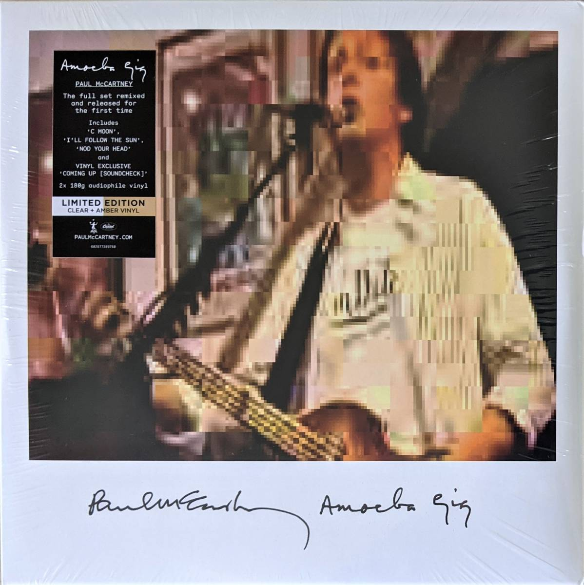 Paul McCartney ポール・マッカートニー - Amoeba Gig 限定二枚組クリア・アンバー・カラー・アナログ・レコード