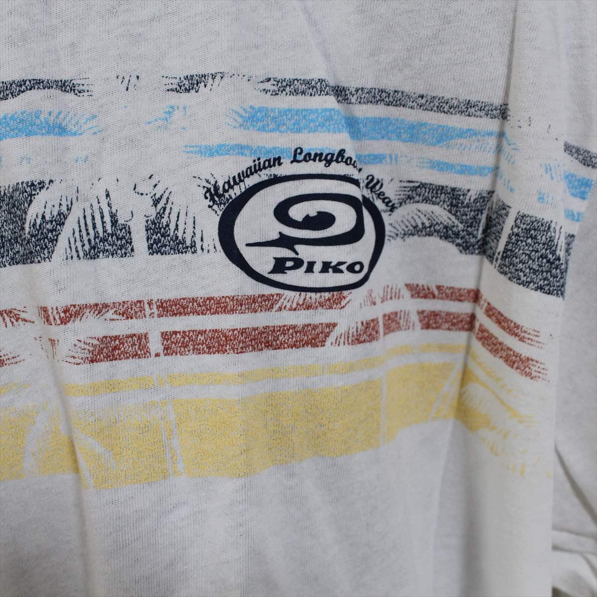 ピコ PIKO メンズ半袖Tシャツ ホワイト XXLサイズ 新品 白 アウトレット_画像2