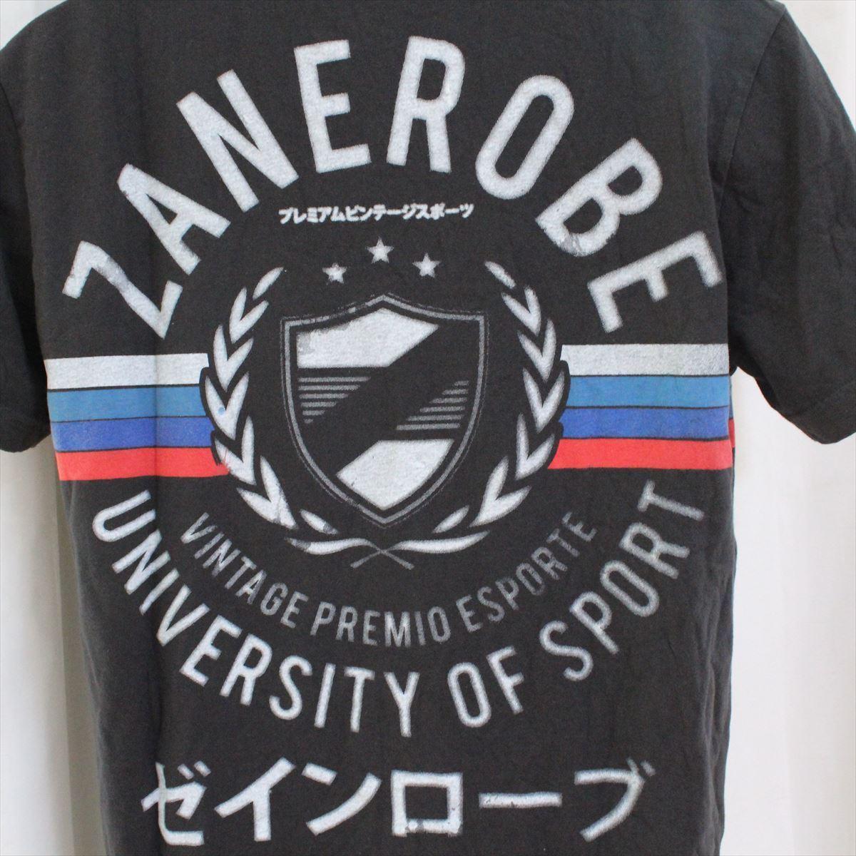 ゼインローブ ZANEROBE メンズ半袖VネックTシャツ ブラック Mサイズ NO62 新品_画像4