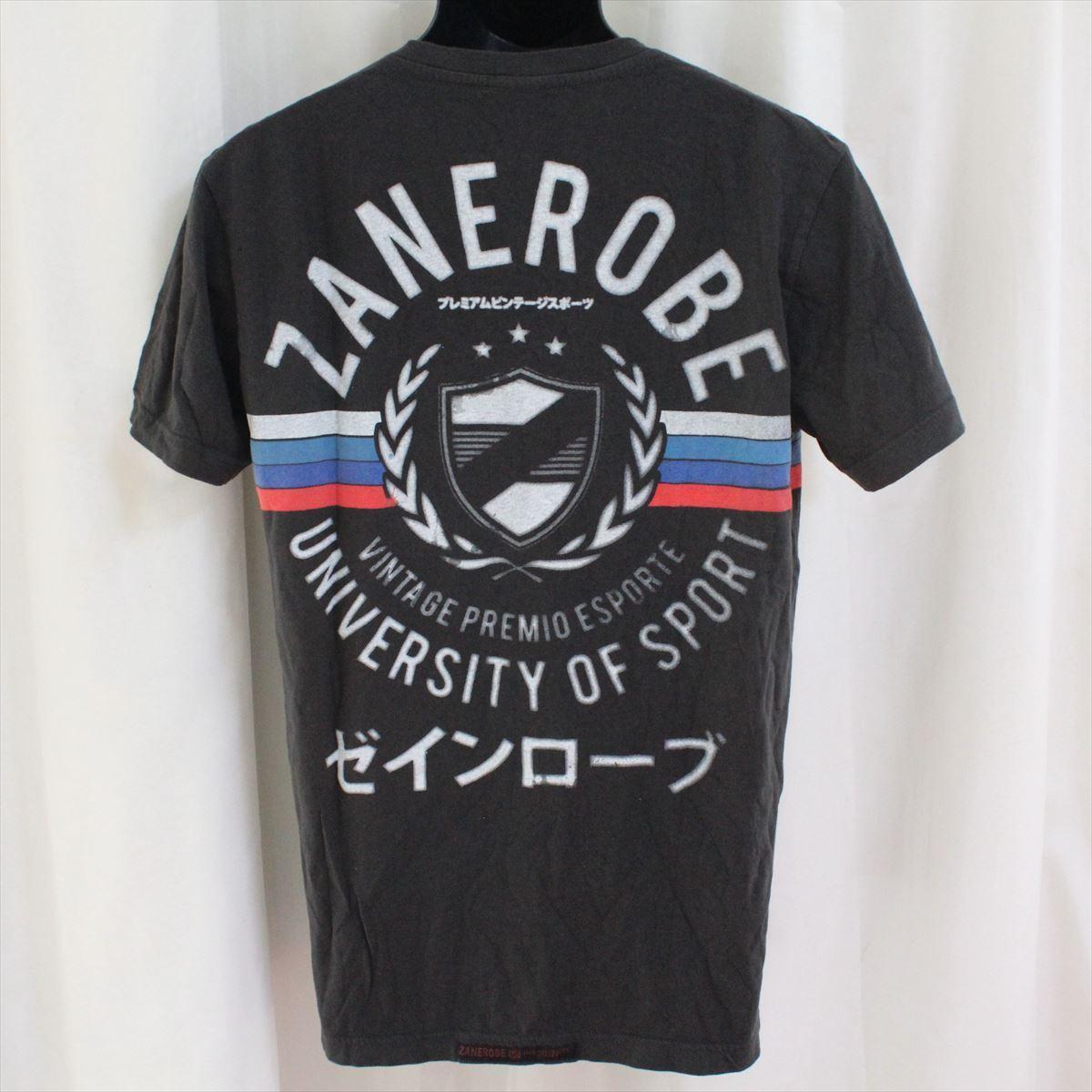 ゼインローブ ZANEROBE メンズ半袖VネックTシャツ ブラック Mサイズ NO62 新品_画像3