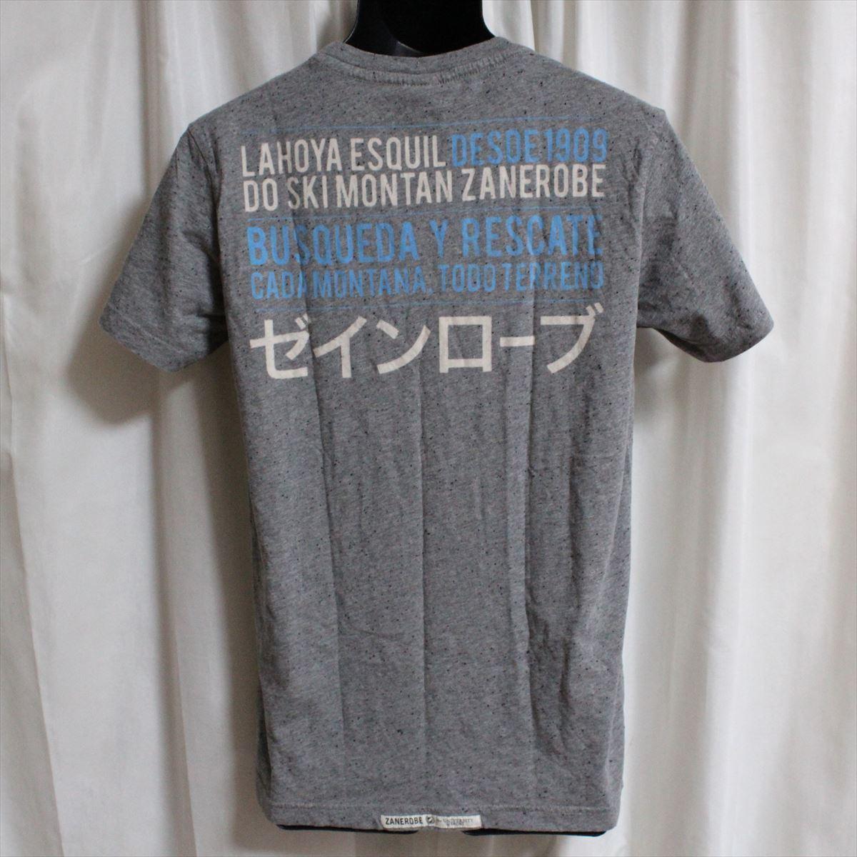 ゼインローブ ZANEROBE メンズ半袖Tシャツ グレー Sサイズ 新品 ESQUIL_画像3