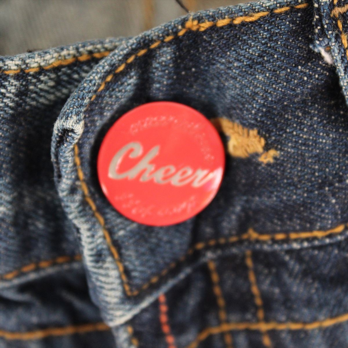 クロスカラーズ CROSS COLOURS CHEER レディースデニムパンツ ジーンズ 27インチ 新品 CL0620068_cheer 赤ボタン
