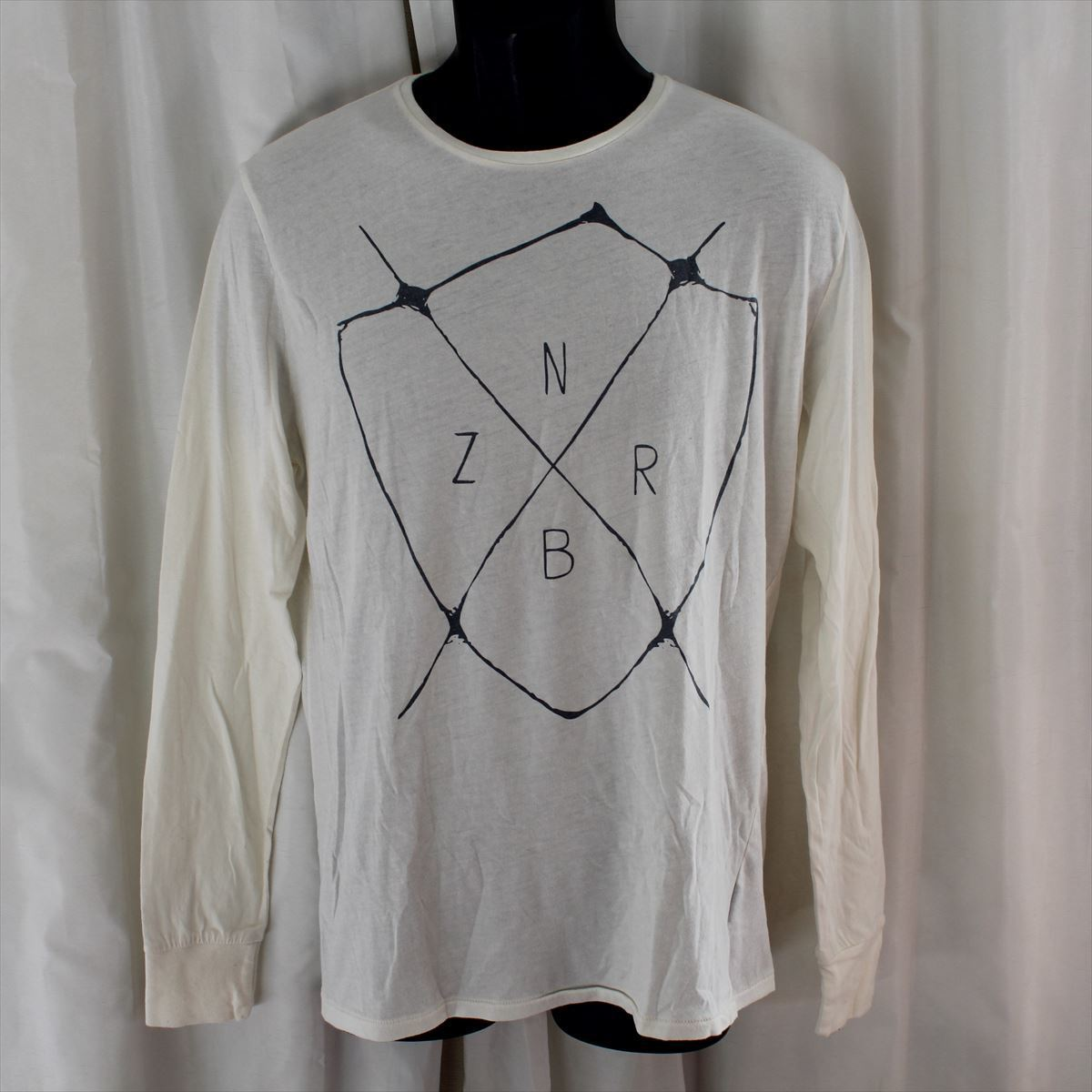 ゼインローブ ZANEROBE メンズ長袖Tシャツ ホワイト Sサイズ 新品 122-INJ-LS_画像1