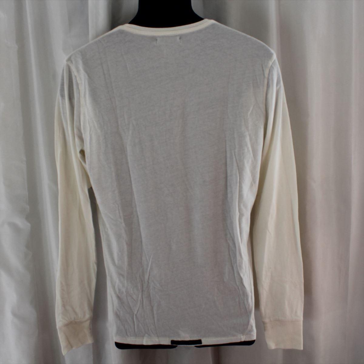 ゼインローブ ZANEROBE メンズ長袖Tシャツ ホワイト Sサイズ 新品 122-INJ-LS_画像3