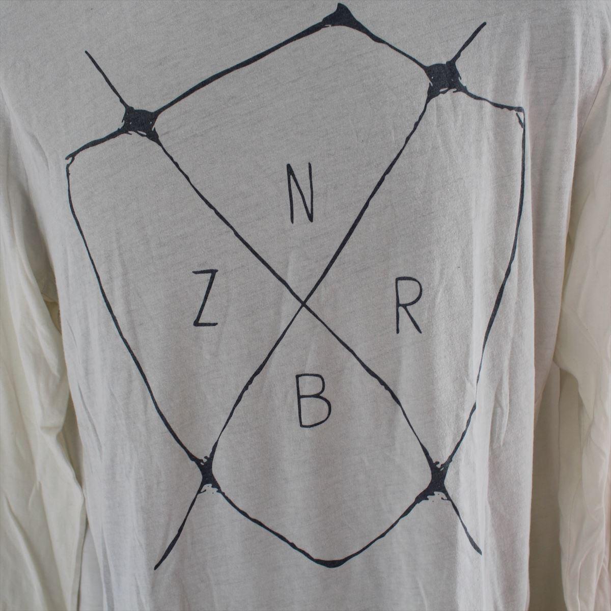 ゼインローブ ZANEROBE メンズ長袖Tシャツ ホワイト Sサイズ 新品 122-INJ-LS_画像2