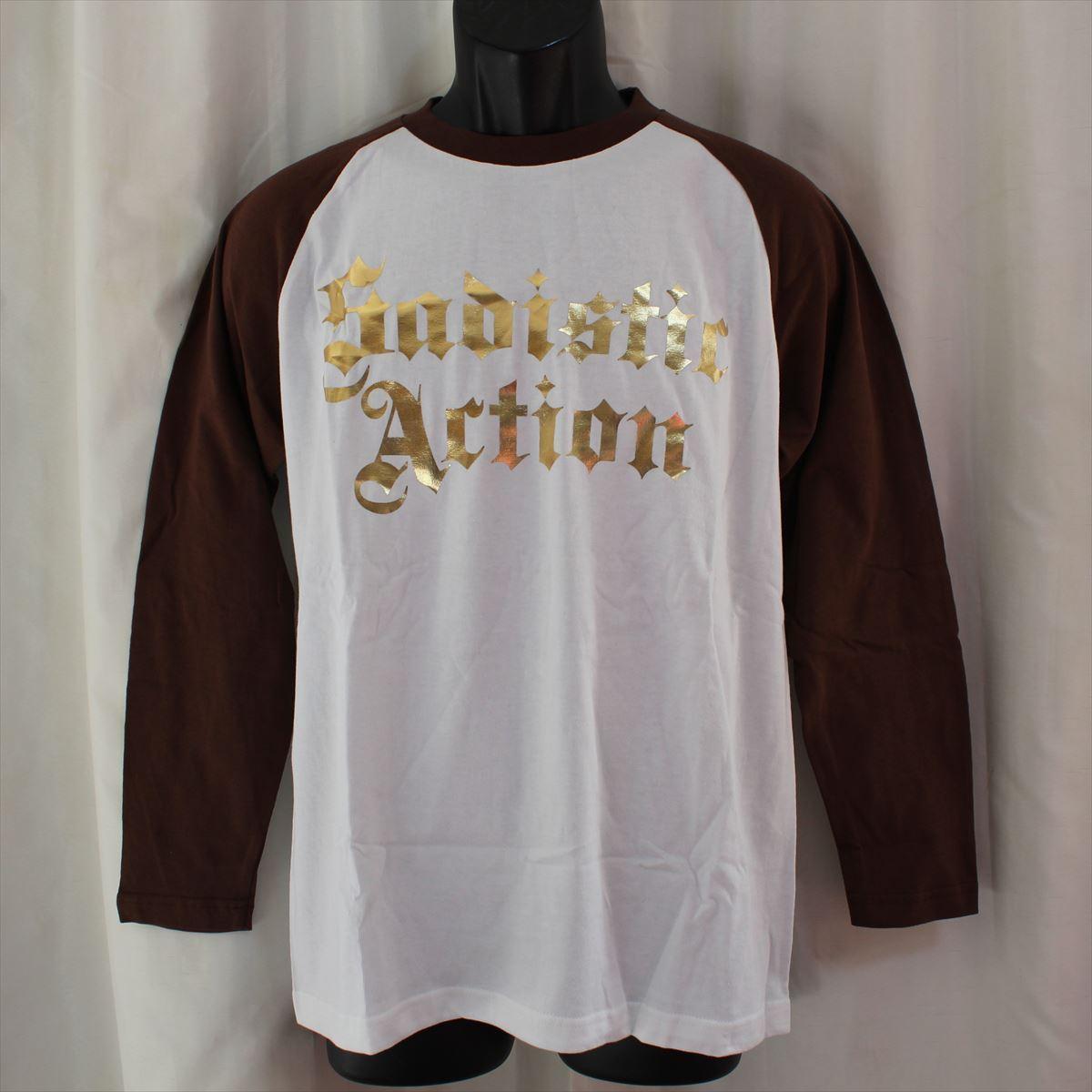 サディスティックアクション SADISTIC ACTION メンズ長袖Tシャツ Mサイズ NO14 新品_画像1