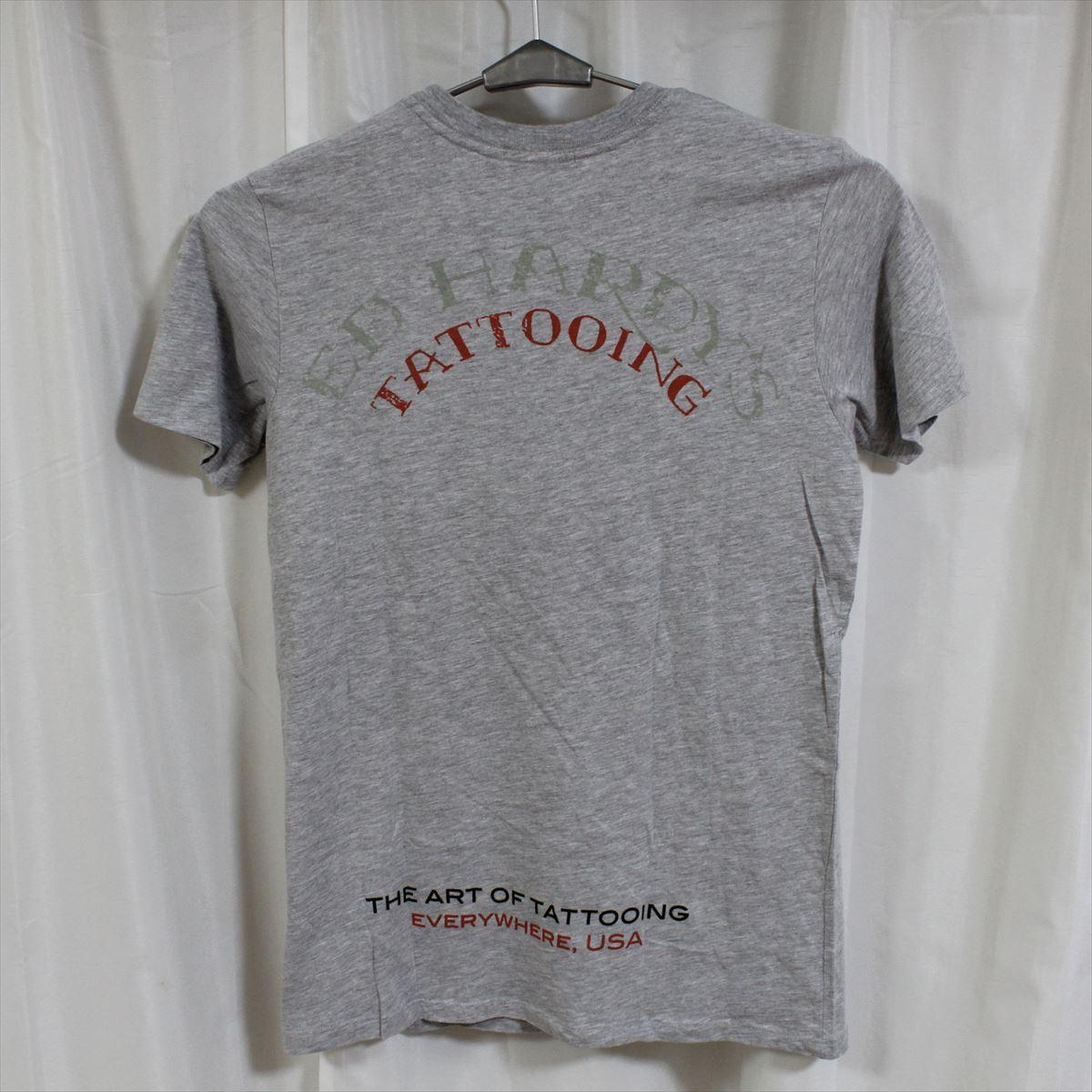 エドハーディー ED HARDY メンズ半袖Tシャツ グレー Sサイズ CN453 新品_画像3