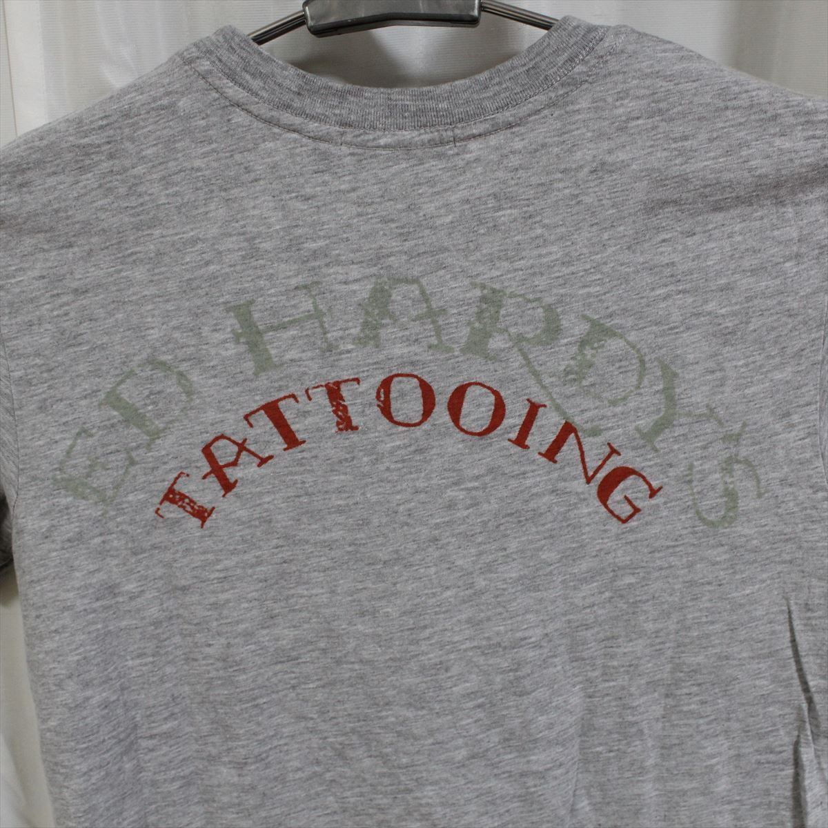 エドハーディー ED HARDY メンズ半袖Tシャツ グレー Sサイズ CN453 新品_画像4