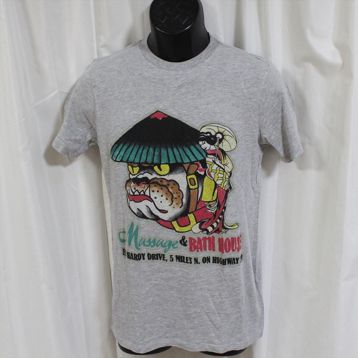 エドハーディー ED HARDY メンズ半袖Tシャツ グレー Sサイズ CN453 新品_画像1
