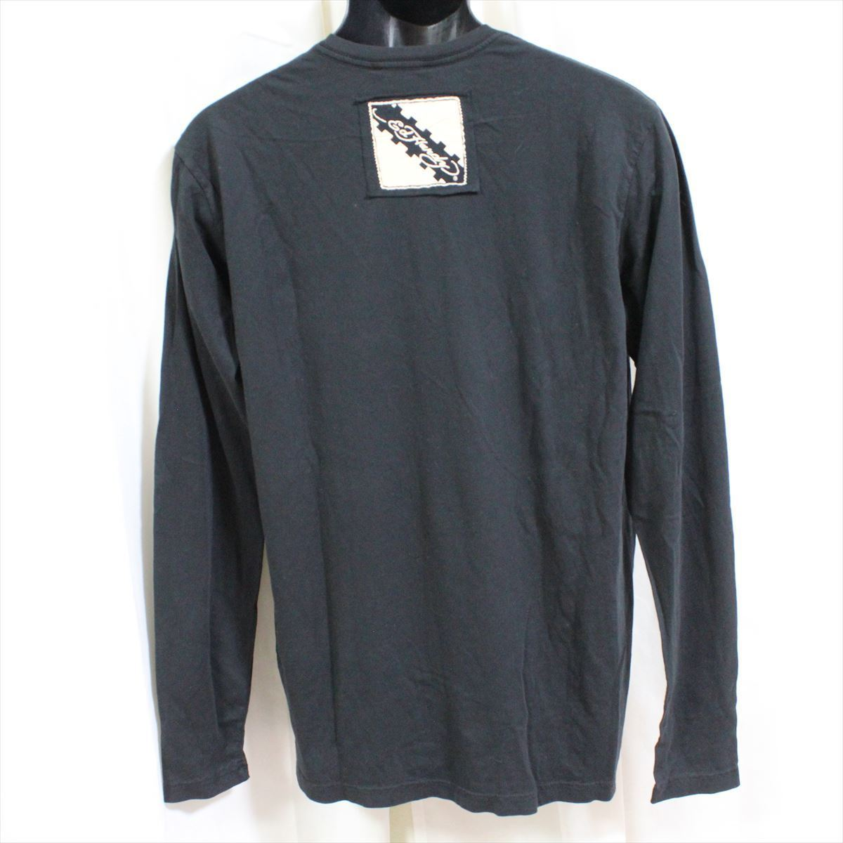エドハーディー ED HARDY メンズ長袖Tシャツ ブラック Mサイズ LT409 新品 ドン・エド・ハーディー_画像4