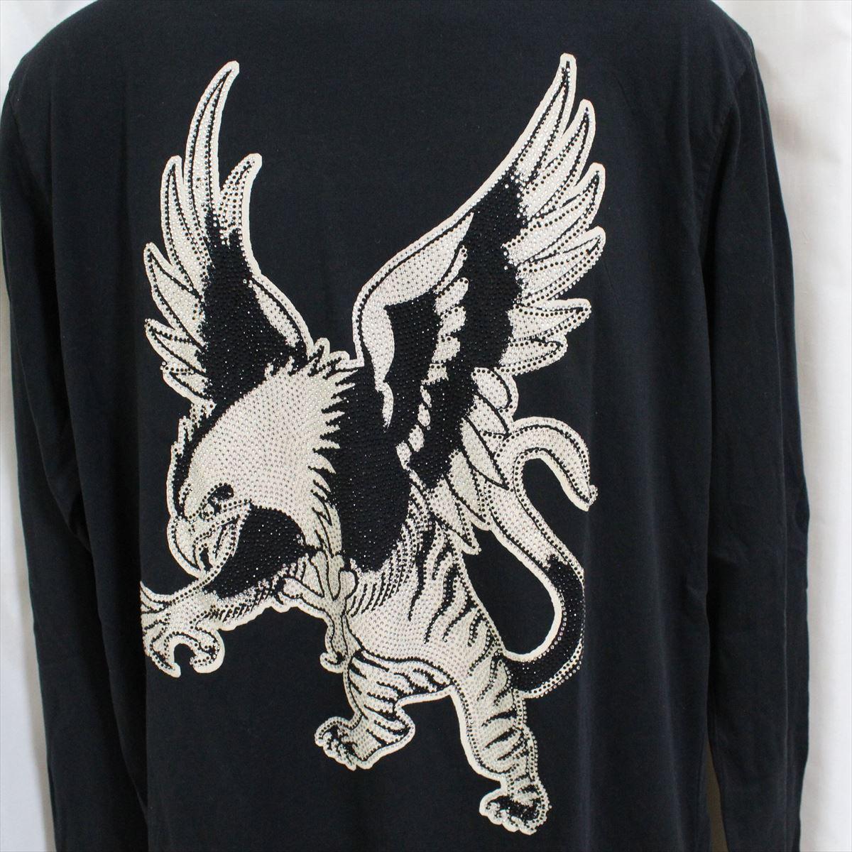 エドハーディー ED HARDY メンズ長袖Tシャツ ブラック Mサイズ LT409 新品 ドン・エド・ハーディー_画像2
