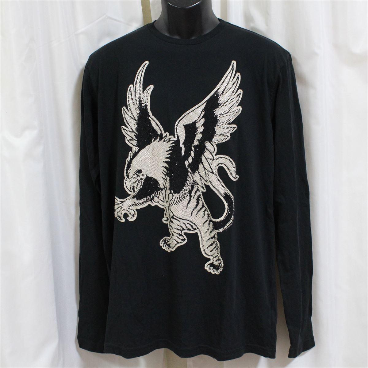 エドハーディー ED HARDY メンズ長袖Tシャツ ブラック Mサイズ LT409 新品 ドン・エド・ハーディー_画像1