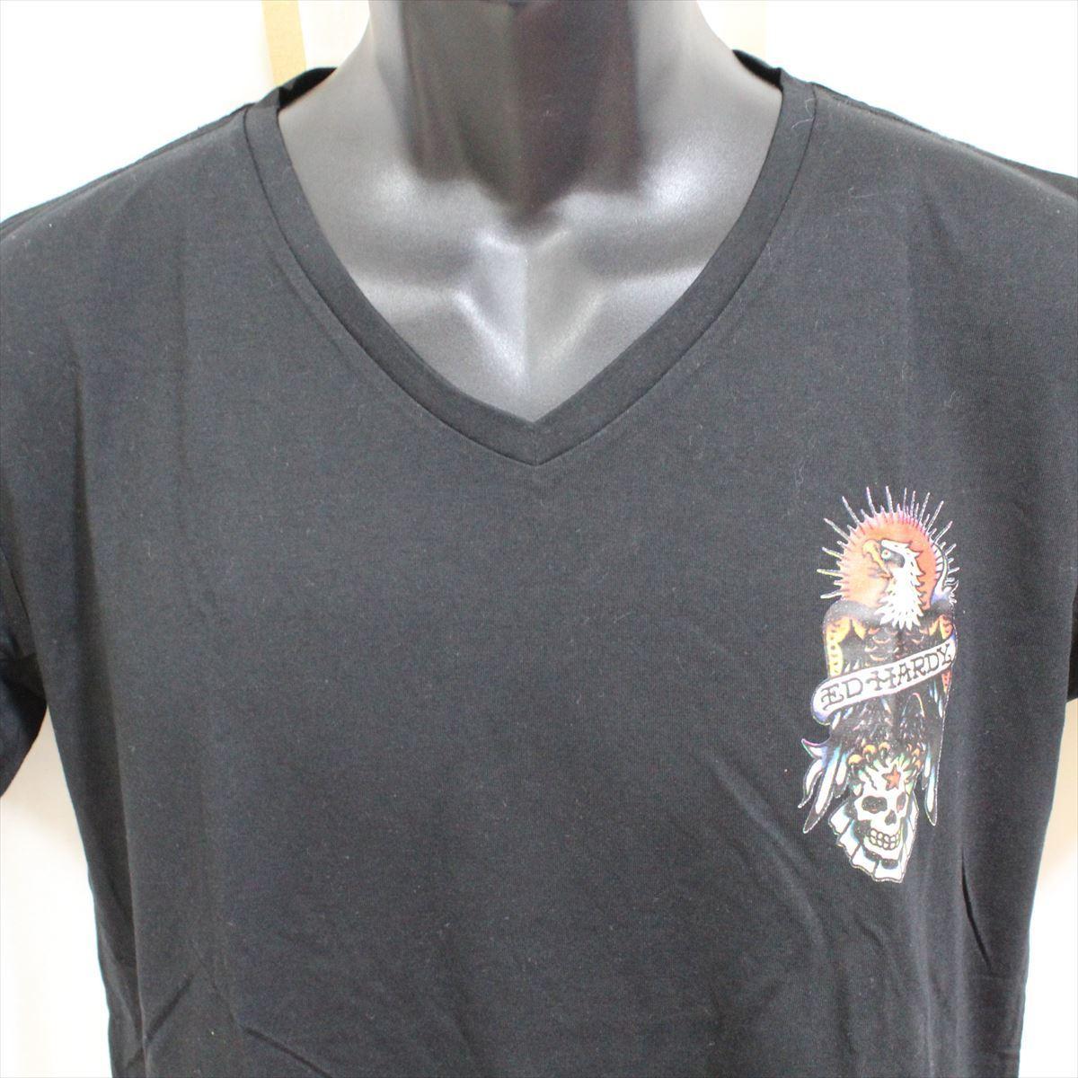 エドハーディー ED HARDY メンズ半袖Tシャツ M02CMV028 ブラック Lサイズ 新品 ドン・エド・ハーディー_画像2
