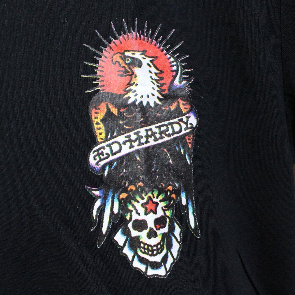 エドハーディー ED HARDY メンズ半袖Tシャツ M02CMV028 ブラック Lサイズ 新品 ドン・エド・ハーディー_画像3