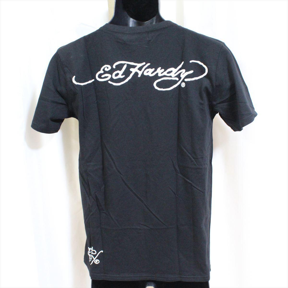 エドハーディー ED HARDY メンズ半袖Tシャツ M02CMV028 ブラック Lサイズ 新品 ドン・エド・ハーディー_画像4