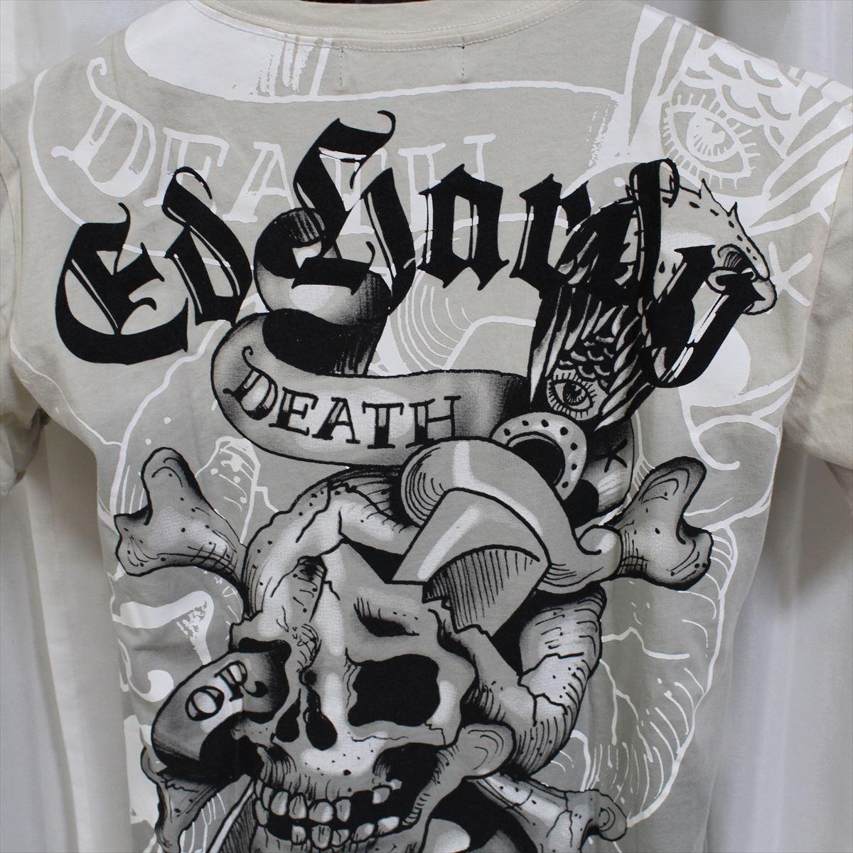 エドハーディー ED HARDY メンズ半袖Tシャツ Mサイズ TC301 グレー 新品_画像5