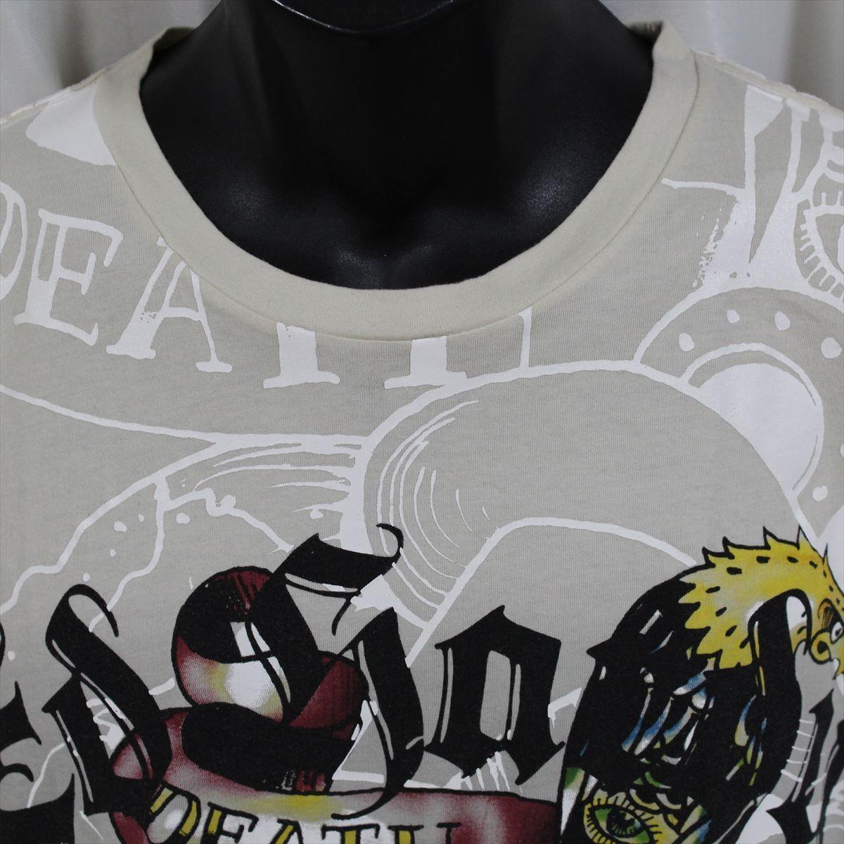 エドハーディー ED HARDY メンズ半袖Tシャツ Mサイズ TC301 グレー 新品_画像2