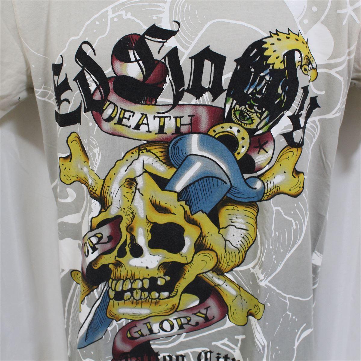 エドハーディー ED HARDY メンズ半袖Tシャツ Mサイズ TC301 グレー 新品_画像3