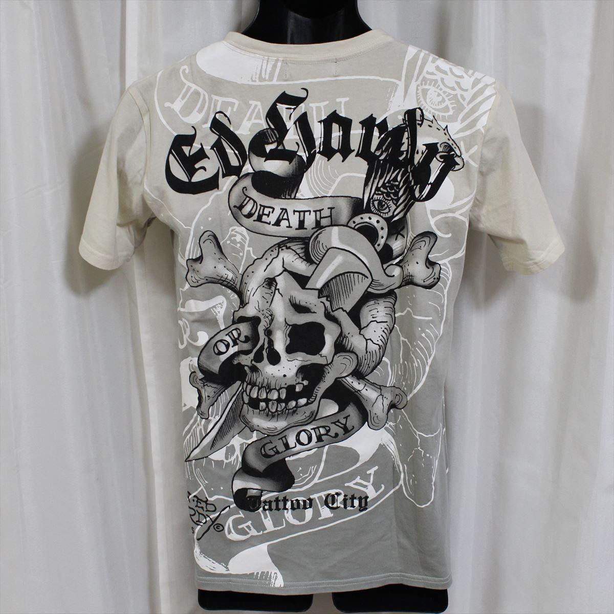 エドハーディー ED HARDY メンズ半袖Tシャツ Mサイズ TC301 グレー 新品_画像4