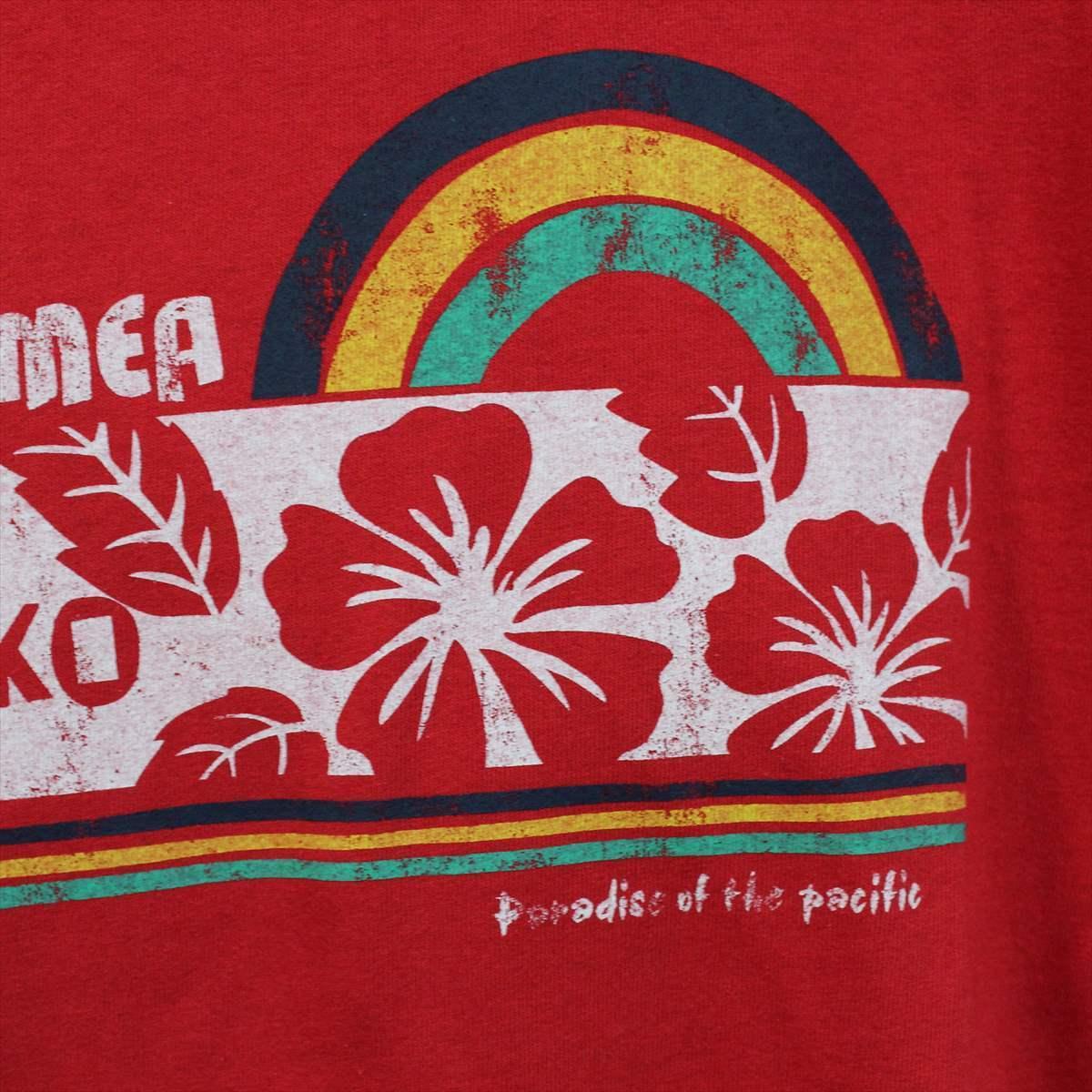 ピコ PIKO メンズ半袖Tシャツ レッド XLサイズ 新品 HAWAIIAN LONGBOARD WEAR 赤_画像2